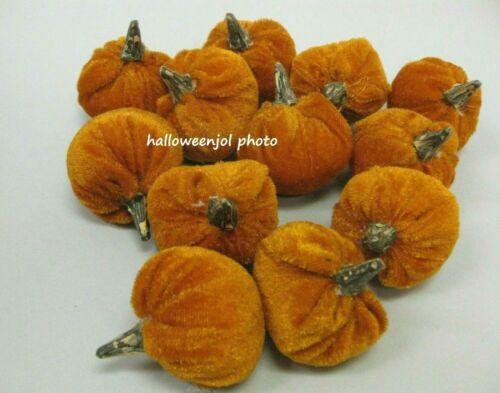 12PC HALLOWEEN ORANGE Gourd Pumpkin Bowl Fillers Wreaths Thanksgiving Tabletop