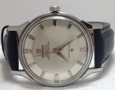 OMEGA CONSTELLATION PIE PAN CHRONOMER OFFICIALLY CERTIFIED SS. MEN WATCH (C.551)