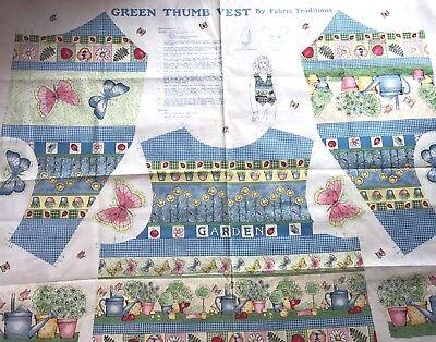 Baumwolle Quilt Stoff Grün Daumen Top Garten Stoff Traditions Panel 88.9cmx112cm ()
