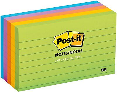 Post-it Notes 3x5 Americas 1 Favorite Sticky Notesjaipur Collection5 Pads