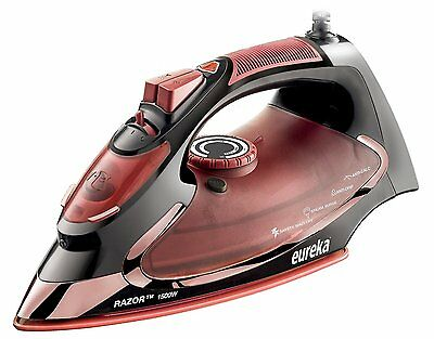 Steam Iron Powerful Super Hot 1500 Watt Iron Marsala Pouch Included 10ft cord
