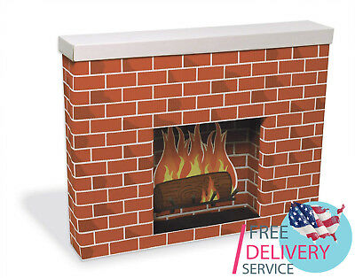 Cardboard Fireplace Christmas Decoration Great addition to your decor collection - Cardboard Fireplace Decoration