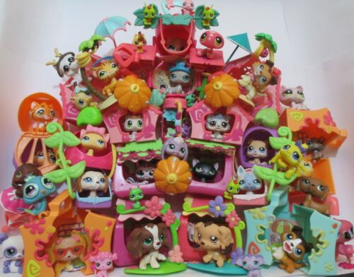 Littlest Pet Shop Lot 15 Pc Random House Mini Playset Dog Or Cat Accessories Set