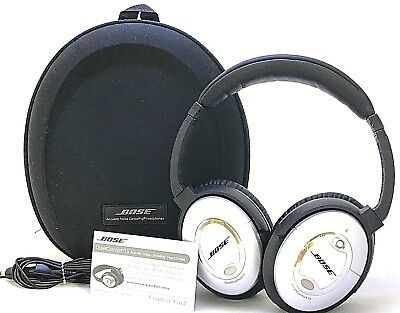 Bose QuietComfort 15 QC15 Headphones W/ Case - Silver 25-2G