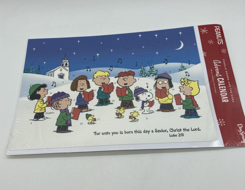 New Dayspring Peanuts Charlie Brown And The Gang Advent Calendar NIP