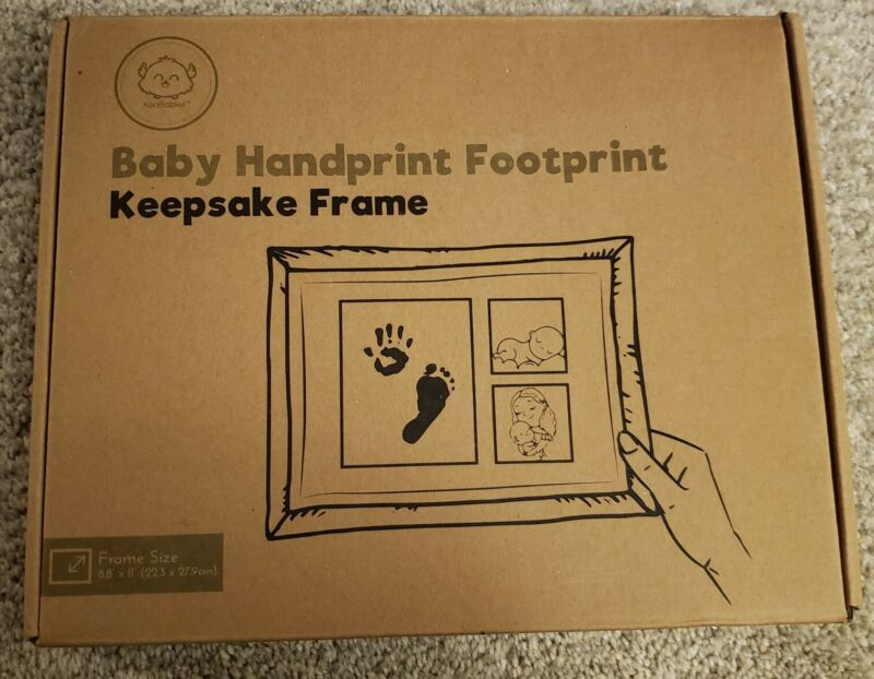 "baby hand and foot print Keepsake Frame 8.8"" X 11"""