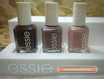 3pc Essie Nail Polish Lot Set mauve plum burgundy neutral colors Lady Like+FILE!
