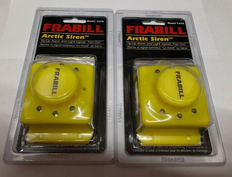 Lot Of 2 Frabill Arctic Siren Model 1678 Ice fishing alarm light and sound