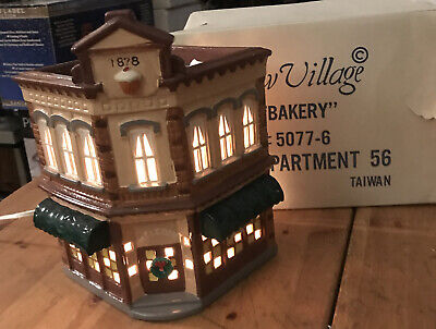The Original Snow Village Dept 56 Bakery #50776 Retired 1991 Christmas Village