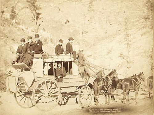 Deadwood, South Dakota Stage Coach NEW Metal Sign: From 1889 Photo