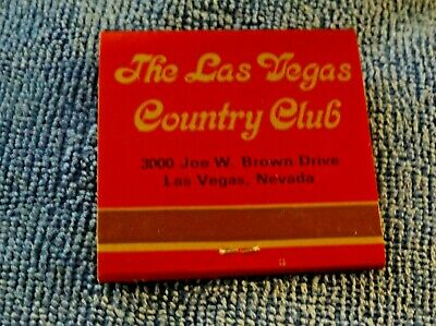 VINTAGE BOOK MATCHES LAS VEGAS COUNTRY CLUB