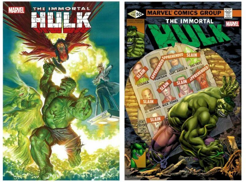 Immortal Hulk #46 Cover A B Variant Set Options Bennet Homage Presale 5/5
