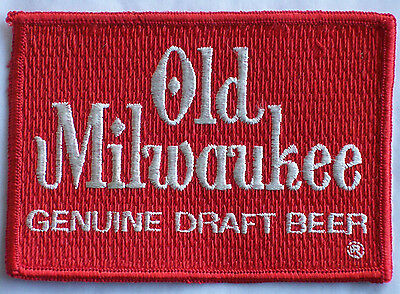 "Patch Old Milwaukee Genuine Draft Beer 4 1/4"" by 3 vintage New Old Stock NOS"