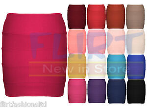 NEW-WOMENS-BODYCON-RIBBED-PANEL-MINI-SKIRT-LADIES-PARTY-WEAR-STRETCH-SIZE-8-14