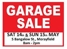 GARAGE SALE! 14th & 15th MAY - MORAYFIELD Morayfield Caboolture Area Preview