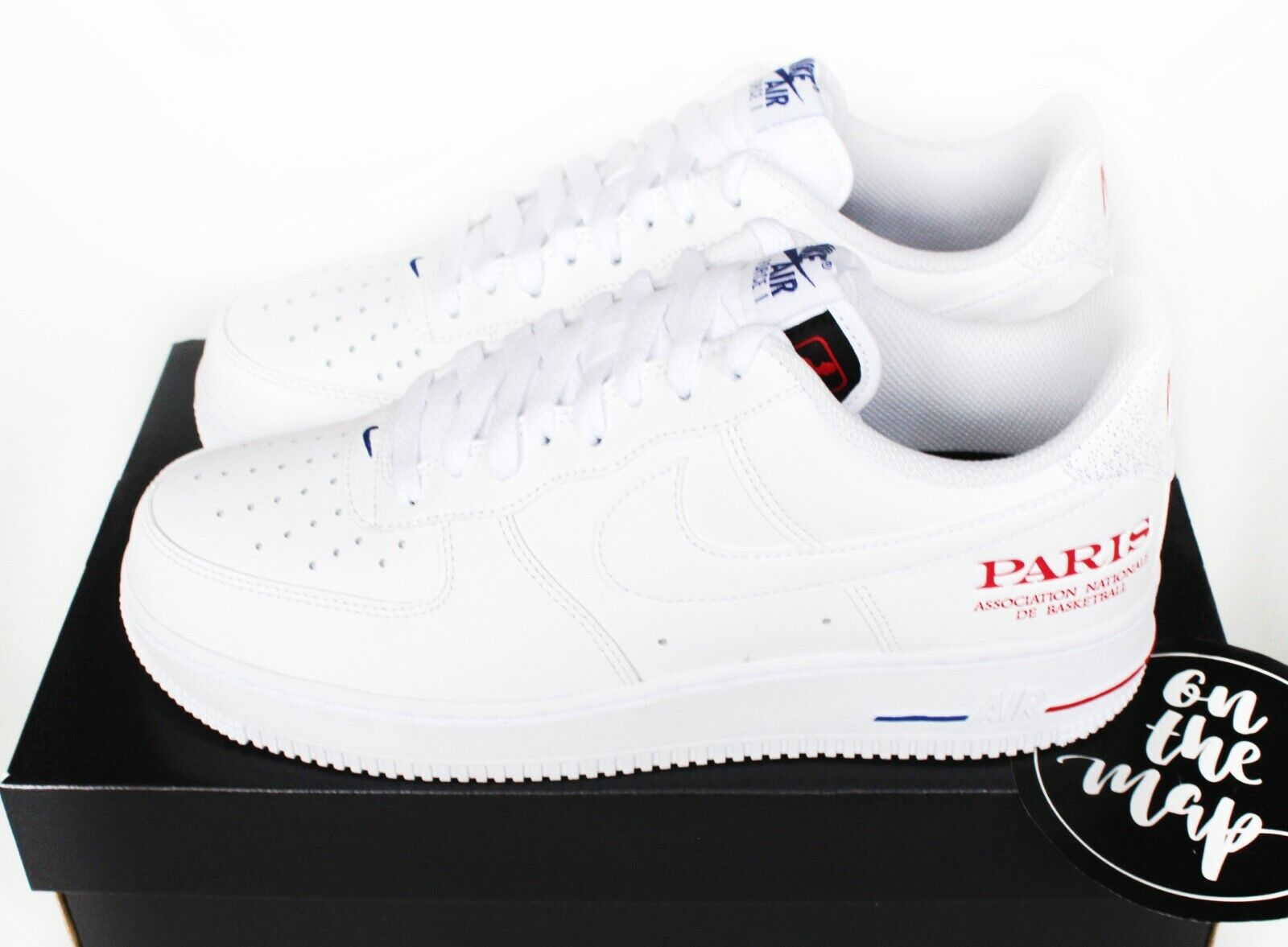Nike Air Force 1 AF1 '07 LV8 NBA Paris Exclusive White UK 5 6 7 8 9 10 11 US New