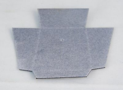 Lot Of 100 Jewelry Gift Presentation Box Cardboard Inserts Gray 1.75 X 1.5