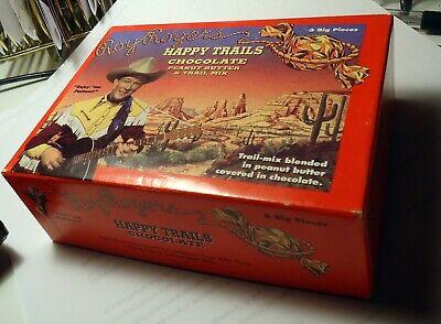 Roy Rogers Happy Trails chocolate PB & trail mix box empty. Mint! Happy Trails Trail Mix