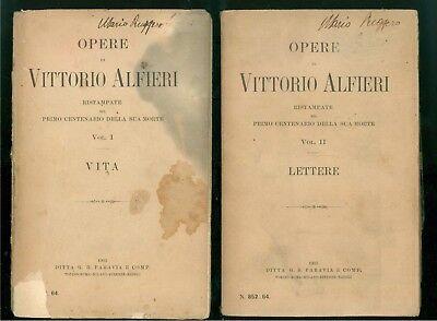 ALFIERI VITTORIO OPERE PARAVIA 1903 11 VOLUMI EDIZIONE DEL CENTENARIO MORTE
