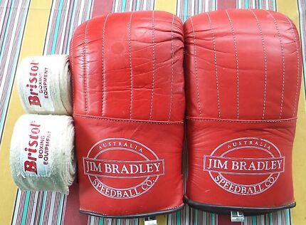 JIM BRADLEY LEATHER GLOVES SIZE LARGE AND BRISTOL HAND BINDING ST