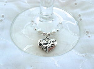 1-X-PERSONALISED-SILVER-AND-WHITE-RHINESTONE-HEART-WINE-GLASS-CHARM-WEDDING-No1