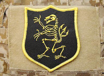 NSWDG Navy SEAL Team 6 DEVGRU Lion Skeleton Gold Squadron Patch ST6