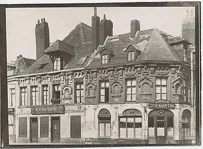 Frankreich  France Lille  original  fotografie  Foto 1918 WW1 13x18 cm  (110