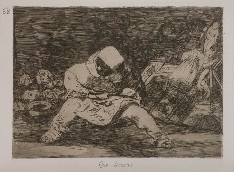 "Francisco Goya ""que Locura!"" C.1808-1814 