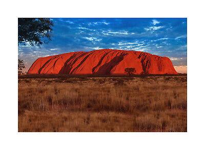 Ayers Rock (Ayers Rock Premium Leinwand   Keilrahmen Bild Wandbild Berge Landschaft Uluru)