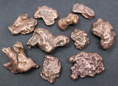 Copper Nuggets: 2 oz Lot Keweenaw Michigan (Natural Copper - Copper Nugget