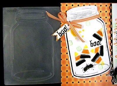 Mason Jars Halloween Crafts (RETIRED Darice MASON JAR Embossing Folder Halloween Valentine's Ship in Bottle)