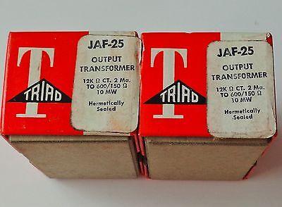 6 NEW OLD STOCK &  IN BOX TRIAD JAF 25 AUDIO TRANSFORMERS