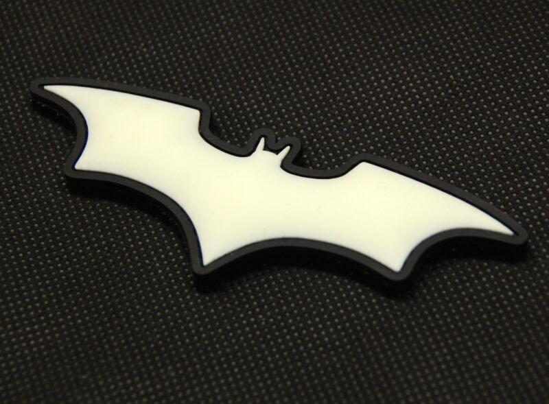 The Dark Knight Batman 3D PVC Glow In The Dark GITD SWAT Rubber Patch Hook