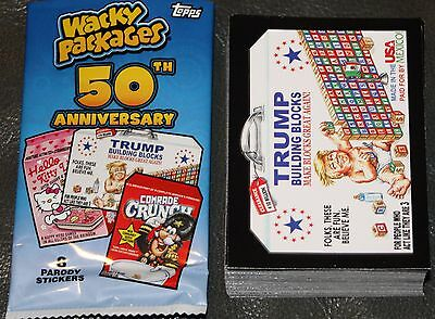2017 WACKY PACKAGES 50TH ANNIVERSARY COMPLETE SET 90 CARDS GARBAGE PAIL KIDS