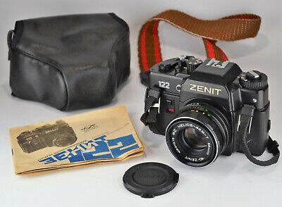 "EXC! 1992 EXPORT RUSSIAN USSR ""ZENIT-122"" SLR CAMERA + MC HELIOS-44m-7 lens (3) comprar usado  Enviando para Brazil"