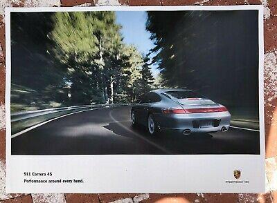Porsche 911/996 Carrera 4S factory poster Performance around every bend