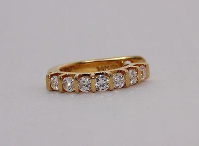 Stunning Single 14ct Yellow Gold Diamond Hoop Earring