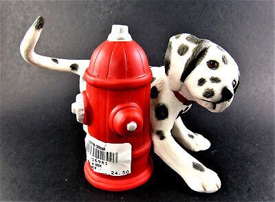 Princeton Gallery Mischief Afoot Dalmatian Dog Figurine Fireman First Aid Kit
