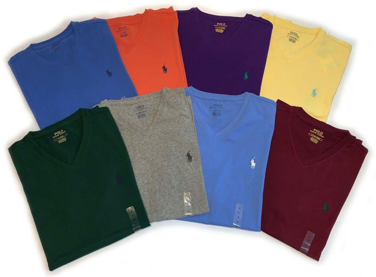 Polo Ralph Lauren V-Neck T-Shirts (Sizes S/M/L/XL/XXL) Various Colors