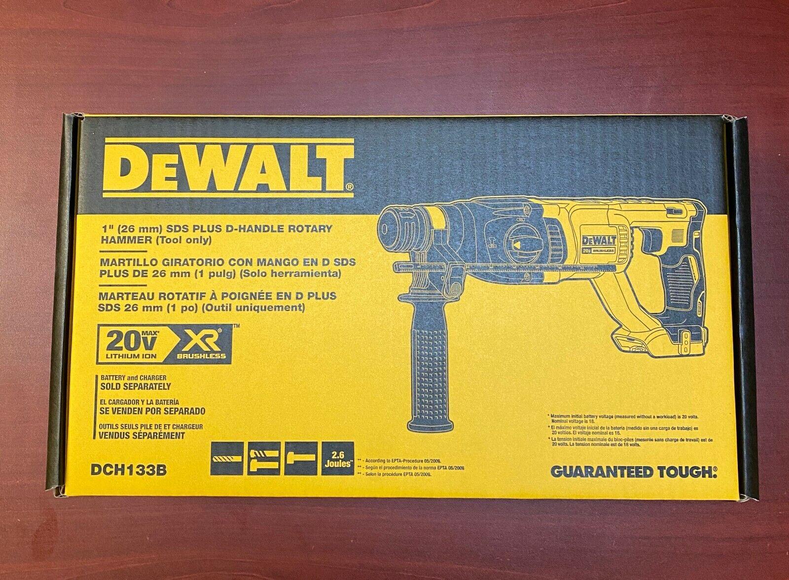 """Dewalt DCH133B 20V Cordless SDS 1"""" Brushless Rotary Hammer D"""