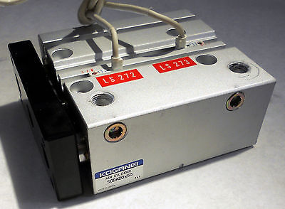 Koganei Sgda20x50 Triple Piston Pneumatic Air Cylinder With Optical Encoders