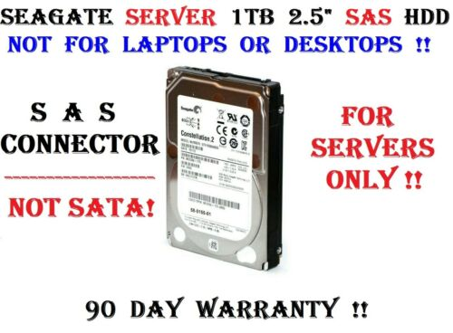 """Seagate For Servers Only! 1TB SAS 2.5"""" Constellation.2 6Gb/s 64M 7.2K Hard Drive"""