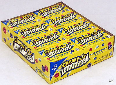 Chewy Lemonheads Blue Raspberry Candy 24 Ct Candies Bulk Ferrara Pan Lemonhead