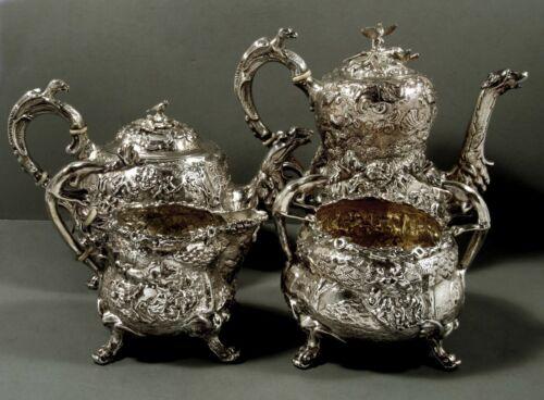 English Sterling Tea Set          1816 Edward Farrell   147 OZ.