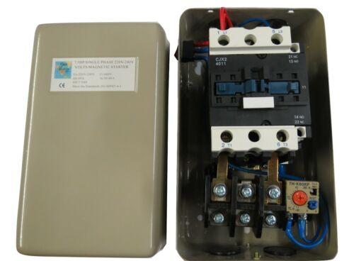 7.5 HP Magnetic Starter Motor Control Single Phase 1Ph 220/240V 30-40A P40GW AMZ