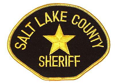SALT LAKE COUNTY UTAH UT Police Sheriff Patch GOLD STAR ~