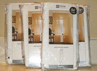 "JC Penny Home Collection Rod Pocket Panel Cool White 60"" W x 54"" L NIP"