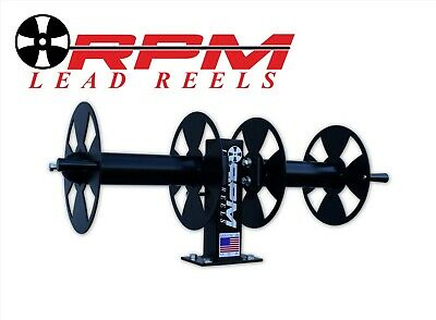 10 Welding Lead Cable Reel Side-by-side Heavy Duty Black