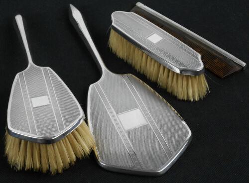 Sterling Silver Cased Brush & Mirror Set - Birmingham 1929