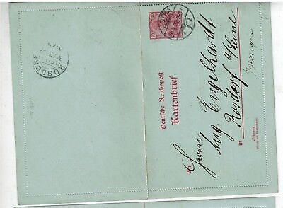 D. Reich Kartenbrief K 10 von Gotha nach Rosdorf - int.Nr.101